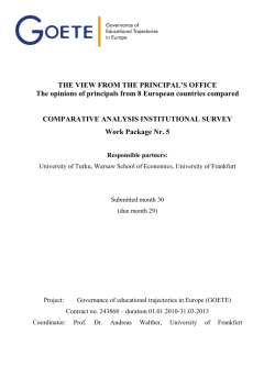 Cover of comparative report